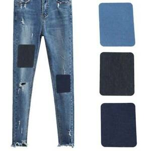 DIY Craft Jeans Applique Iron Sew On Cloth Repair Denim Patches W