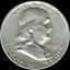 "A 1957 D Franklin Half Dollar 90/% SILVER US Mint /""Average Circulation/"""