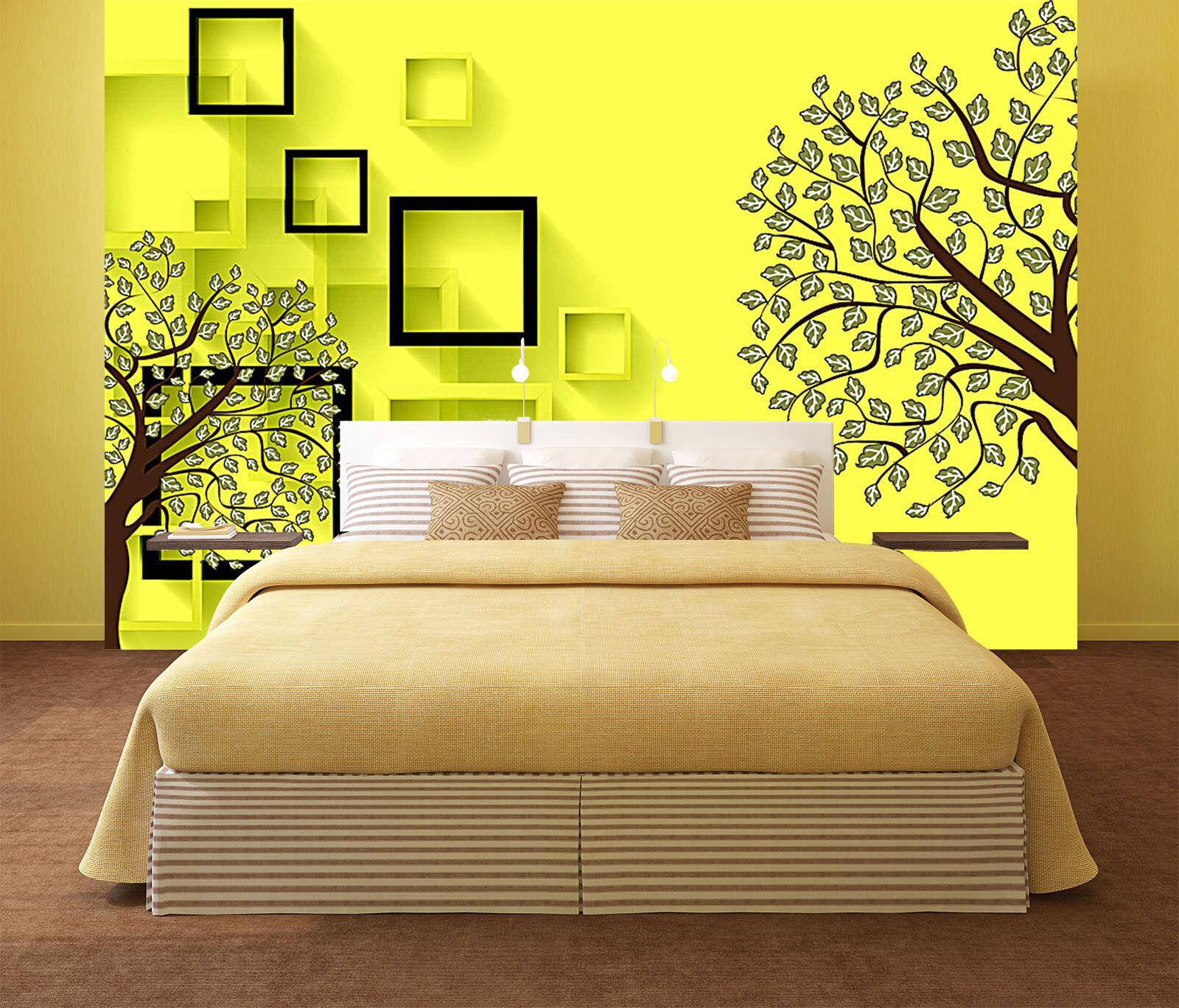 3D Bright Art Gelb 7 Wall Paper Murals Wall Print Wall Wallpaper Mural AU Kyra