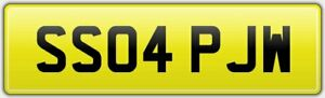 SS04-PJW-PERSONALISED-NUMBER-THEMED-CAR-REG-PLATE-ALL-FEES-PAID-PW-PJ-JW-5504