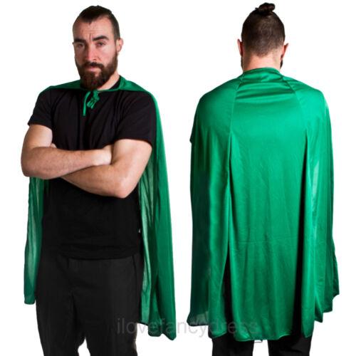 Adulte Unisexe Vert Taille unique Super Héros Cape Costume Robe Fantaisie tvfilm Halloween