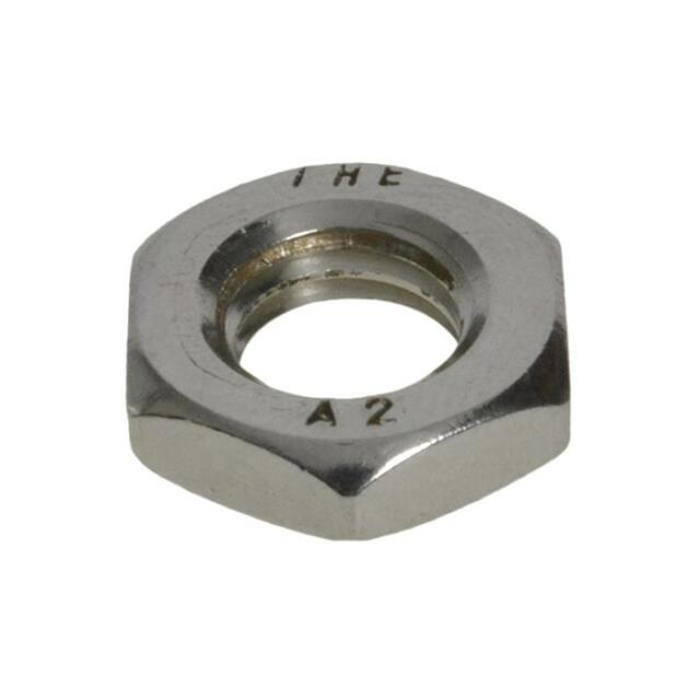 G304 Stainless Steel M3 (3mm) Metric Coarse Hex Lock Nut Thin Half Jam