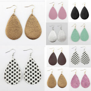 Fashion-Women-Leopard-Leather-Teardrop-Earrings-Bohemia-Dangle-Drop-Jewelry-Gift