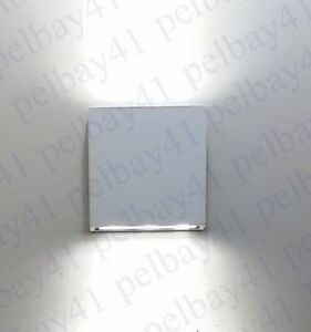 Details About Low Profile Square White Indoor Outdoor Up Down Wall Sconce Led Light By Slv