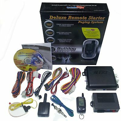 New Bulldog Deluxe Remote Auto Start Keyless Entry System Kit Dodge Fiat & Other