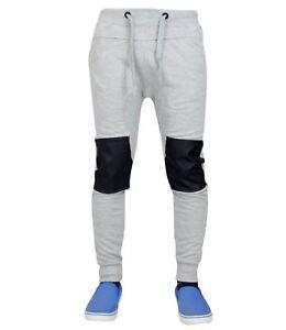 Détails sur Hommes Entrejambe Tombant Coupe Skinny Bas de Survêtement Jogging Pantalon