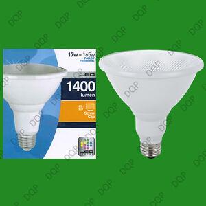 3 x PAR38 LED SPOT LIGHT BULB 17W = 165W ES E27 WARM WHITE PAR 38 SECURITY LAMP
