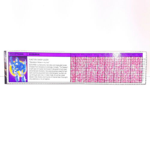 **YOU PICK** VINTAGE G1 TRANSFORMERS SPECS SPEC STAT CARD SHEET Original Hasbro