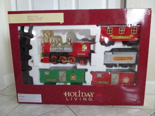 b7517a7a290 Holiday Santa Express Lighted   Sound Christmas Train Set 5 Ft Diameter  Track