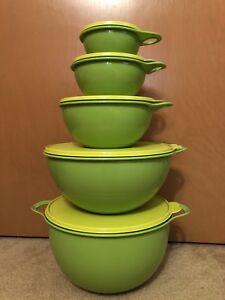 Tupperware-Thatsa-Bowl-Set-2-1-2-6-12-32-42-Cup-Lettuce-Margarita-Green-New