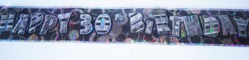 30th glitz birthday banner party decorations pink blue black silver 30 thirty