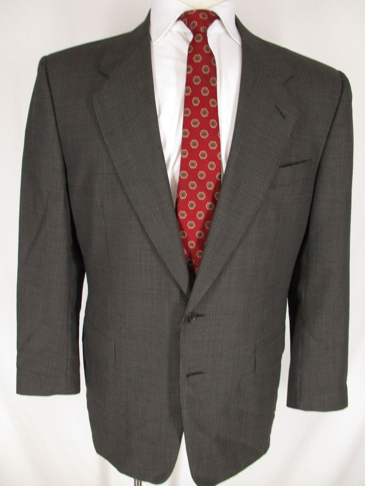 Canali  Herren Charcoal Nailhead 2 Btn Suit 40R  Made