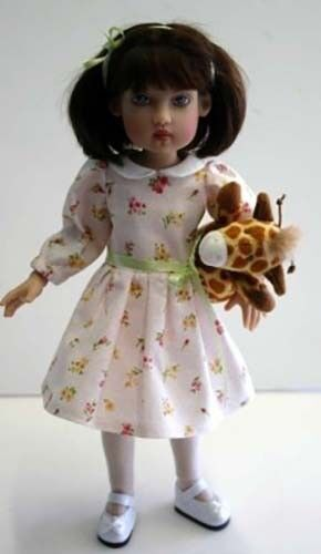 """Sunday Best Dress Doll Clothes Sewing Pattern for 12/"""" Bethany Kish"""