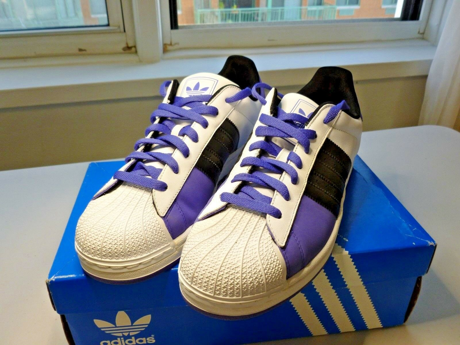 BRAND NEW ADIDAS ORIGINALS SUPERSTAR 2 ATHIETIC SNEAKERS NEW IN BOX