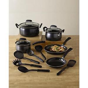 14 piece non stick cookware set pots and pans kitchen for Kitchen set non stick