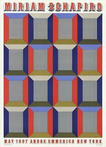 MIRIAM SCHAPIRO Silver Windows 28.5 x 20.5 Offset Lithograph 1967 Pop Art