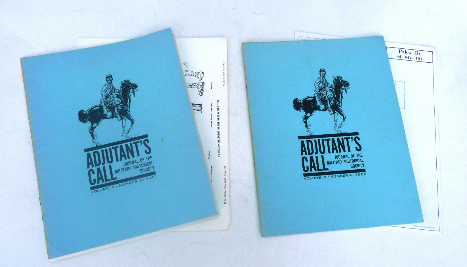 Adjutant's Call Journal of Military Historical Society 1st 1st 1st 16 issues 1960 - 1966 c8a34b