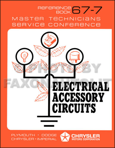 1967 Electrical Accessory Circuits Training Manual Dodge Chrysler Plymouth