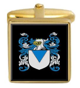 Millar Irland Familie Wappen Familienname Gold Manschettenknöpfe Graviert Kiste GroßEr Ausverkauf