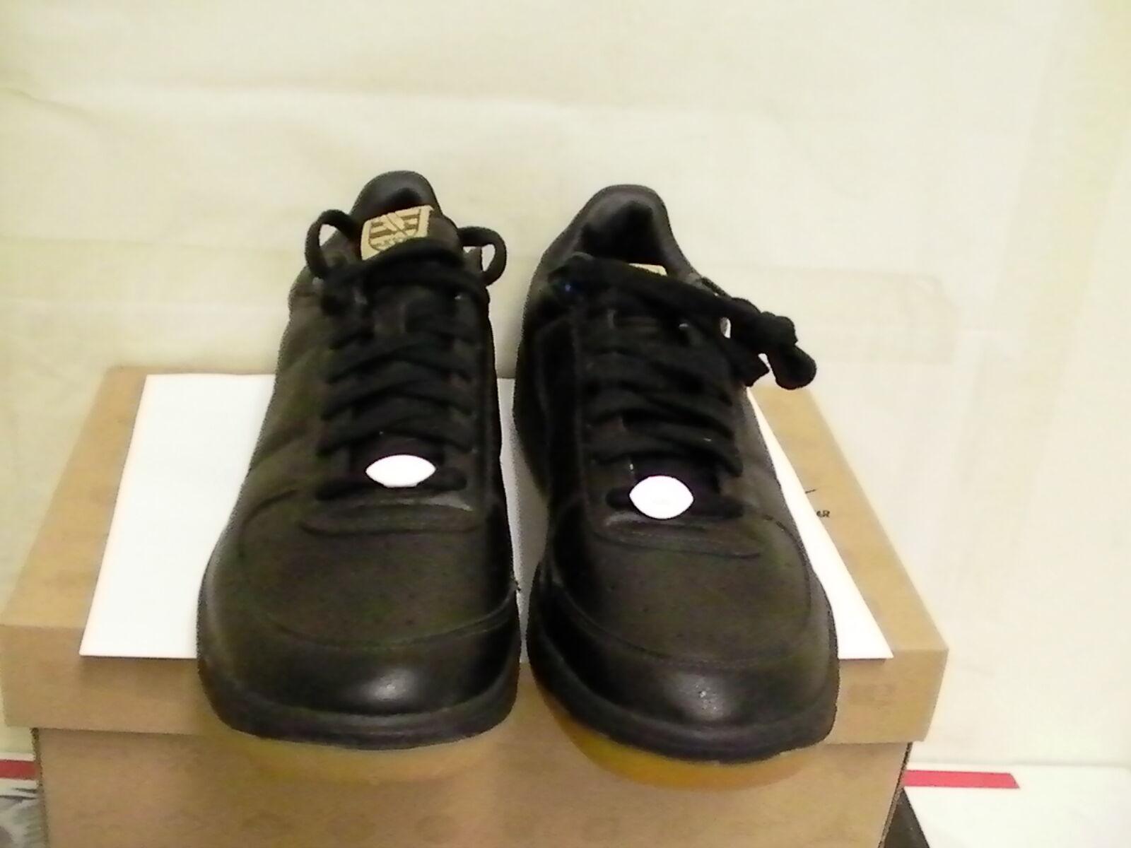 Nike zoom oberste gerichtshof uns niedrige schwarze lederschuhe größe 10,5 uns gerichtshof 2baced