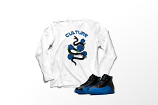 "/""CROWN BULL/"" T-Shirt to Match Air Retro 12 /""Deep Royal Blue 12/'s/"""