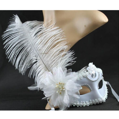 Fashion Venetian Face Mask Feather Decoration Women Masquerade Masks
