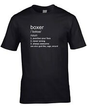 Boxer Funny Definition Mens T-Shirt Gift Idea Boxing Sport Gloves Ring Combat