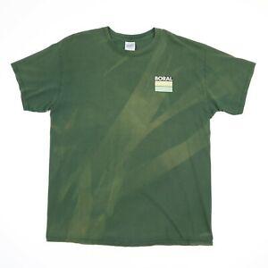 Sun-Streak-Faded-Boral-T-shirt-LARGE-Green-Distressed-Workwear-Grunge-Skate