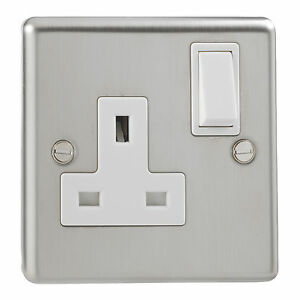 20x-British-General-Stainless-Steel-Single-Switched-1-Gang-Socket-Double-13-Amp