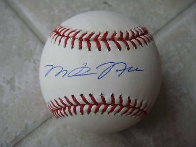 Autographs-original Persevering Michael Neu Hurricanes/a's Signed Official Ml Ball Coa To Adopt Advanced Technology Baseball-mlb