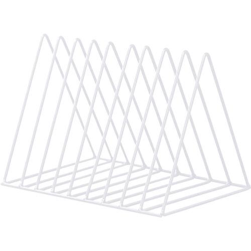 Triangle Étagère Fer Simple Livre Support Bureau Maison Stockage Agenda Cadeau