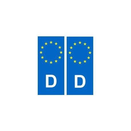Angles droits Allemagne Deutschland autocollant plaque