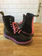 Dr Martens Black Acid Pink Leather Pascal Air Wair 8-Eye Size 8 UK 42 EU