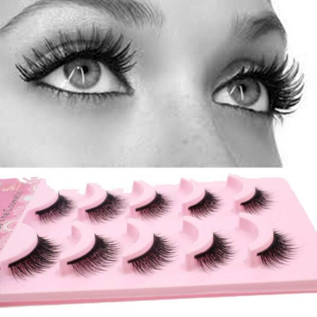 Makeup Natural Eyelashes Soft Long Eye Lash Multilayer Cross Useful