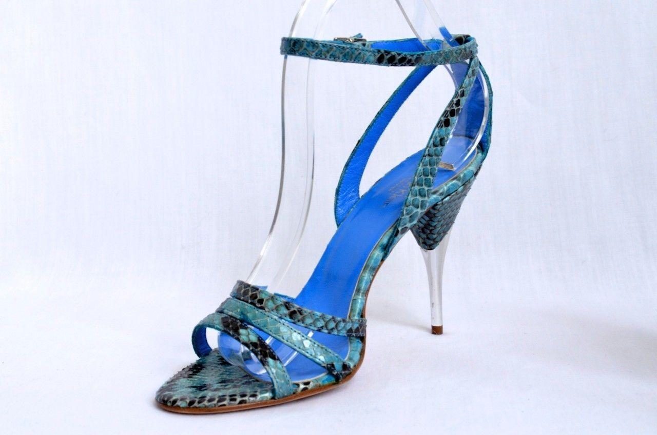 CALVIN KLEIN COLLECTION Snakeskin Open-Toe Sandale 8.5-38.5 High Heel Schuhe Pump 8.5-38.5 Sandale 02d17b