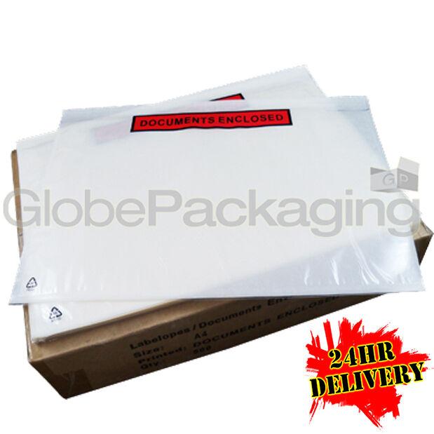 500 slip A4 document imprimé joint slip 500 portefeuilles 328x230mm fb04f4