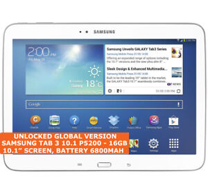 SAMSUNG GALAXY TAB 3 10.1 P5200 16 Go Dual-Core 10.1 in (environ 25.65 cm) Wi-Fi 3 G Tablette Android