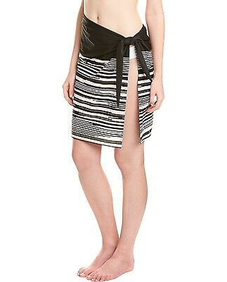 Miraclesuit Swimsuit Cover Up Barcode Sarong Black White Skirt NWT L/XL $120 NEW