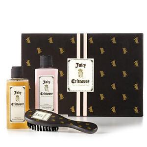 Brand-new-Juicy-Crittoure-3-Pieces-Brush-Shampoo-Conditioner-Retail-55-NO-BOX