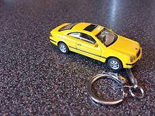 Diecast Mercedes Benz CLK Coupe Coche de juguete amarillo KEYRING LLAVERO