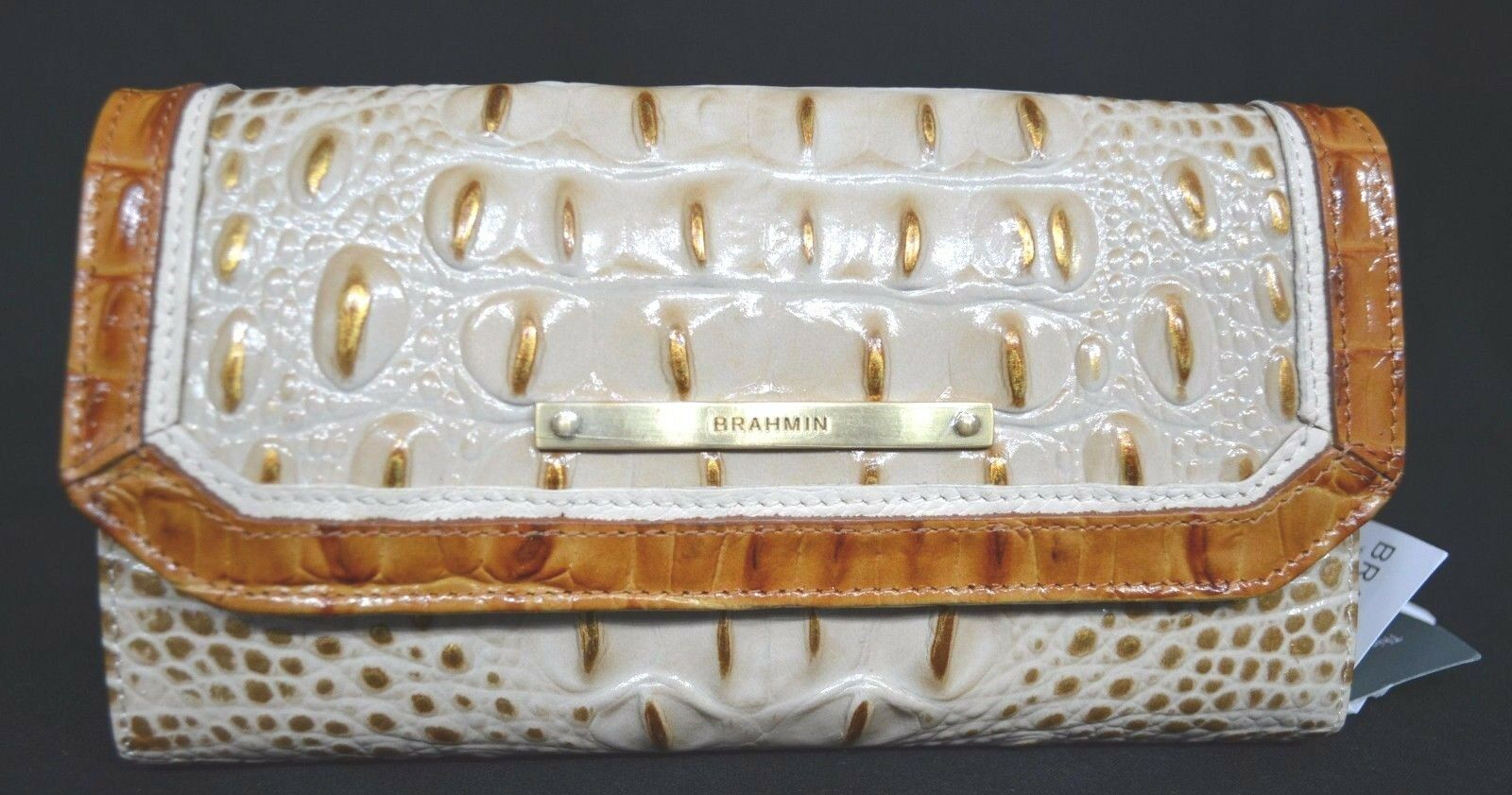 NWT Brahmin Soft Checkbook Wallet. Muslin Tri-Texture