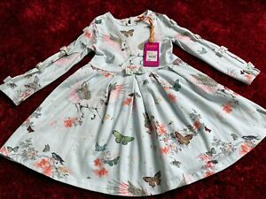 BNWT-Ted-Baker-Age-3-4-034-Pegasus-034-unicorn-bow-party-dress-New-Gift-birthday-gift