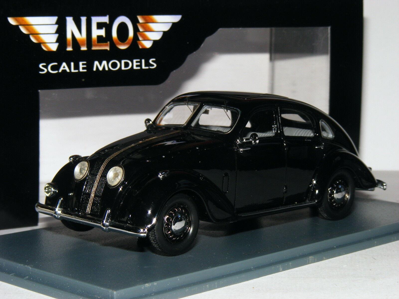 Neo Neo Neo 45025 1937 Adler 2.5 Litro Autobahn Sedan Negro 1 43 e37e72