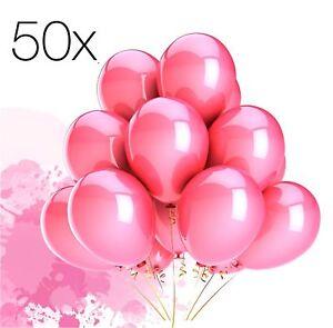 50x-Luftballons-Ballons-Luftballon-Luft-Helium-pink-Hochzeit-Deko-Dekoration