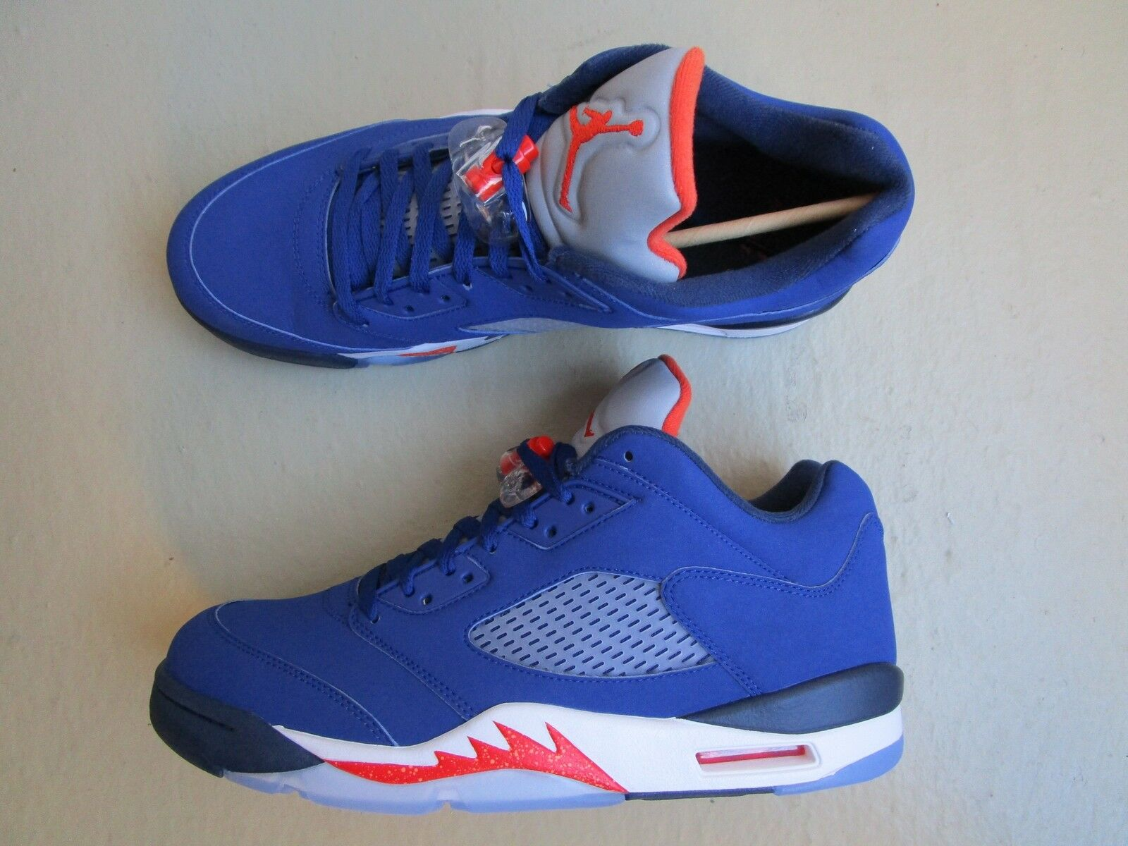 Nike Air Jordan 5/v retro low AzulTeam 45.5 knicks Deep Royal AzulTeam low NaranjaMid Navy 0087c8