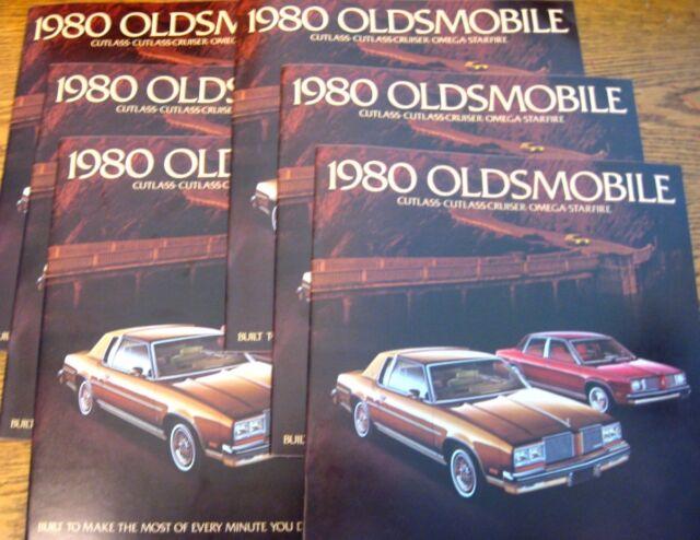 1980 Oldsmobile Sales Brochure LOT (6) BIG pcs, Cutlass Supreme Omega Starfire