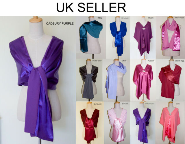 Hand Made Chiffon/Satin Shawl Scarves for Bridesmaid Evening Prom Dress