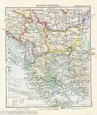 Greece Hellas Srbija Albania 1942 kl. orig. Karte Montenegro Heraklion Istanbul