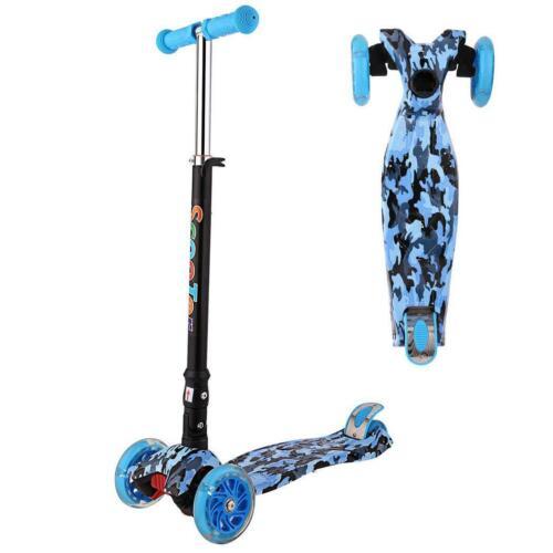 Kinder Cityroller Scooter Roller Kinderroller Tretroller Kickroller 4 LED Räder