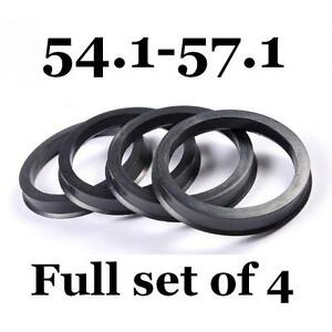 4 Wheel Hub Centric Rings 72.56mm Hubcentric 60.1 to 72.56 to 60.1mm Hub
